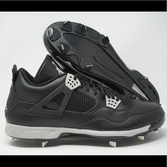 wholesale dealer 9a097 c0fbc Nike Jordan IV Metal Baseball Cleats Mens Retro